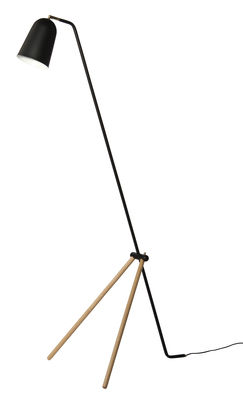 Lampadaire Giraffe - Frandsen noir/bois naturel en métal/bois