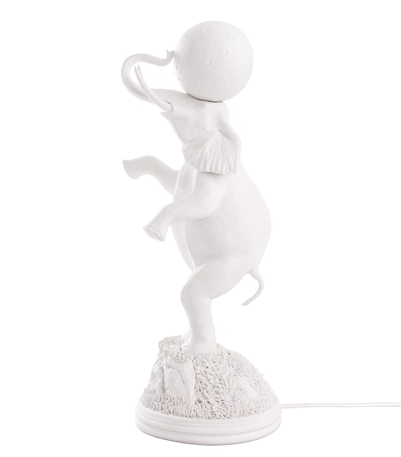 Luminaire - Lampes de table - Lampe de table Elephant / H 55 cm - Seletti - Blanc - Porcelaine, Résine