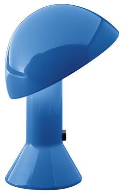 Lampe de table Elmetto / 1976 - Martinelli Luce bleu en matière plastique