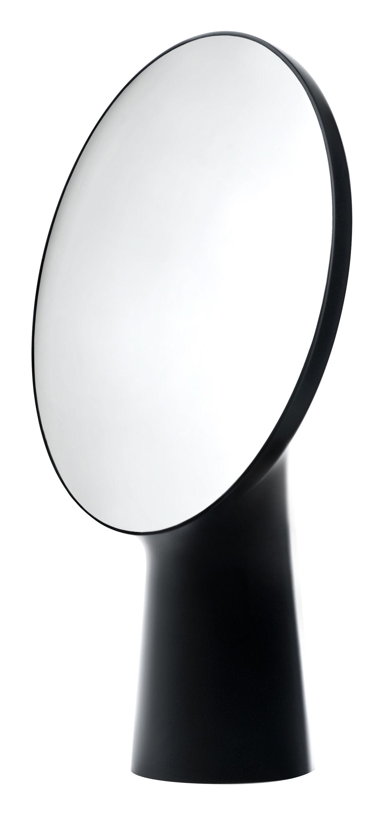Mobilier - Miroirs - Miroir à poser Cyclope / H 46,5 cm - Moustache - Noir - Terre cuite