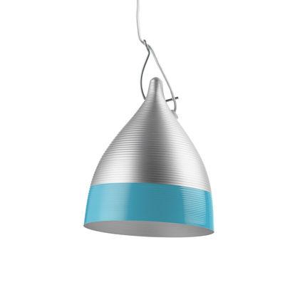 Lighting - Pendant Lighting - Cornette Pendant by Tsé-Tsé - Aluminium & blue - Aluminium