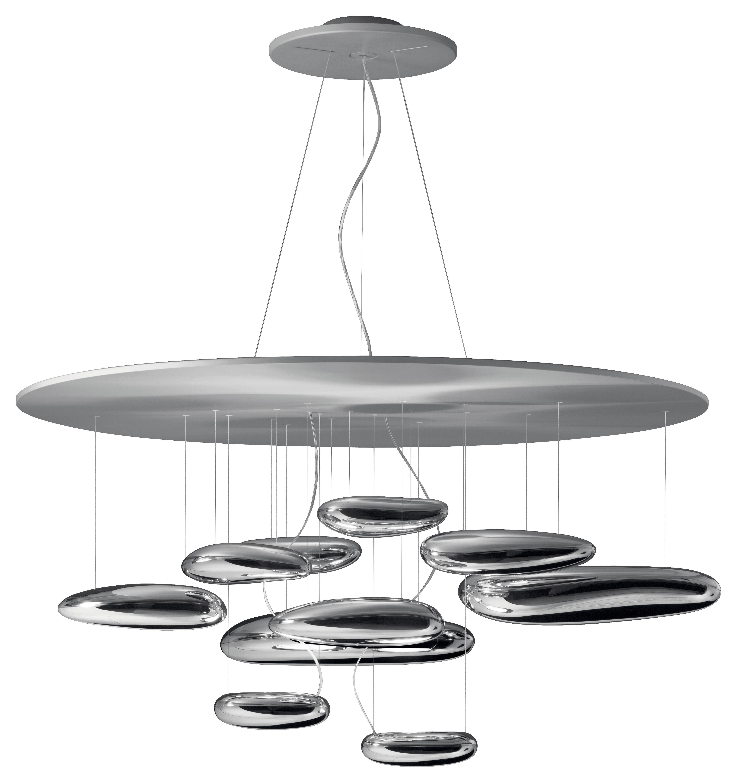 Lighting - Pendant Lighting - Mercury Pendant - Halogen by Artemide - Metal grey & mirror - Aluminium, Stainless steel