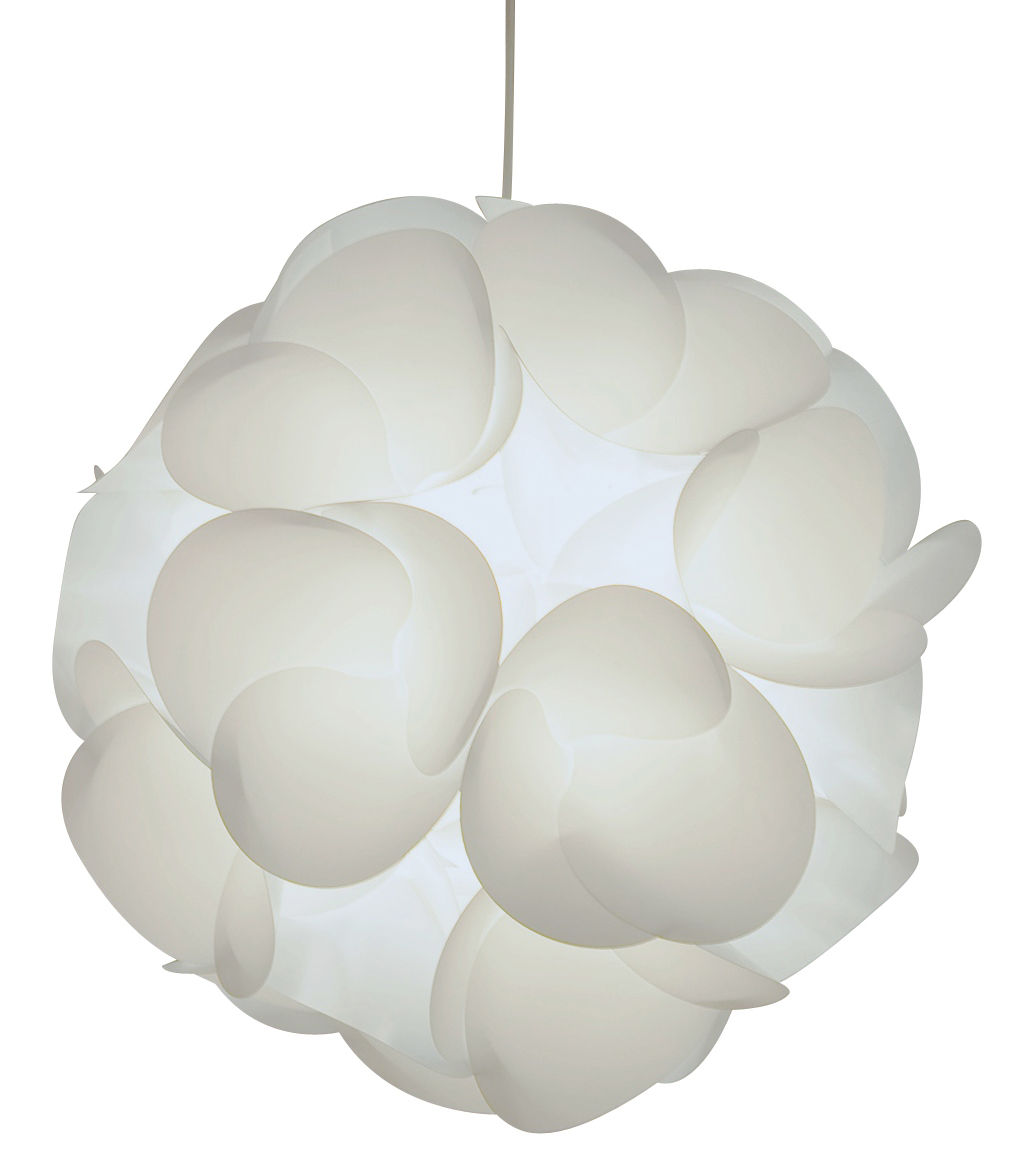 Lighting - Pendant Lighting - Radiolaire Pendant - Ø 50 cm - Reissue 1968 by Designheure - White - Polycarbonate