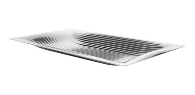 Tavola - Vassoi  - Piano/vassoio Megaptera - 45 x 26 cm di Alessi - Acciaio inossidabile - Acciaio inossidabile