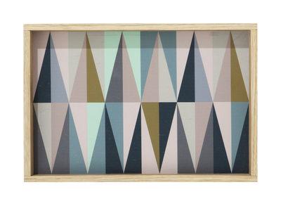 Arts de la table - Plateaux - Plateau Spear Small / 20 x 30 cm - Ferm Living - Multicolore - 20 x 30 cm - Bouleau, Chêne