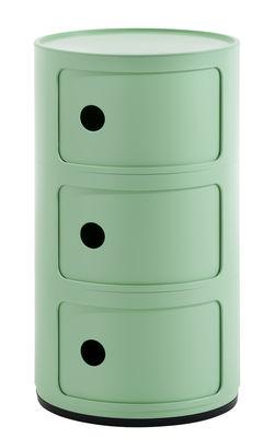 Arredamento - Tavolini  - Portaoggetti Componibili Bio - / 3 cassetti - Materiale naturale & biodegradabile di Kartell - Verde - Bioplastica Bio-On