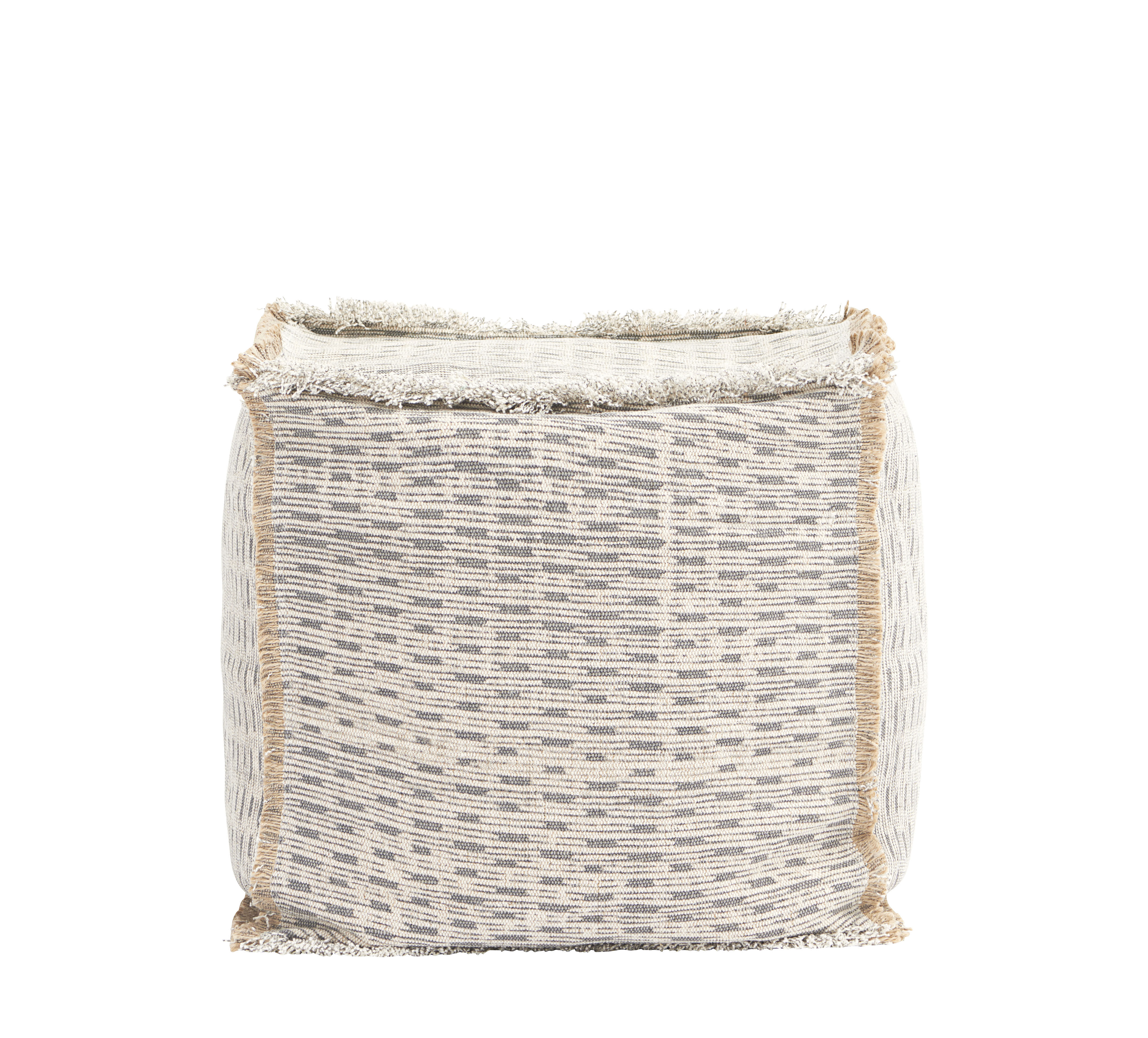 Furniture - Poufs & Floor Cushions - Abi Pouf - / L 40 x H 40 cm by House Doctor - Ivory - Cotton, Hessian