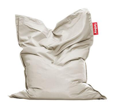 Pouf The Original Outdoor / Pour l'extérieur - Fatboy Larg. 140 cm x L 180 cm gris clair en tissu