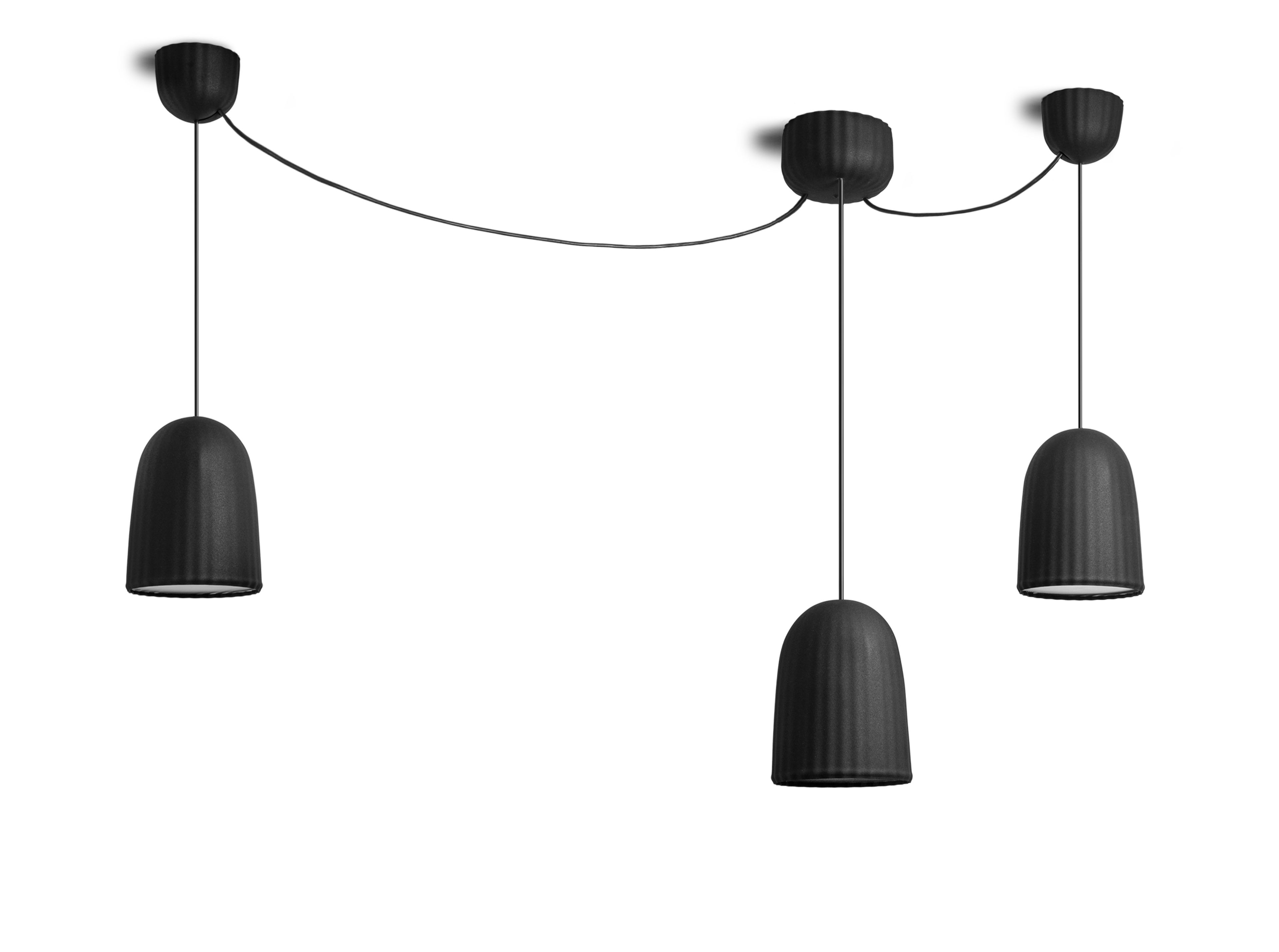 suspension chains multiple petite friture noir made in. Black Bedroom Furniture Sets. Home Design Ideas