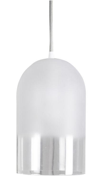 Luminaire - Suspensions - Suspension Dewy / Verre soufflé - H 28 cm - ENOstudio - Blanc & bas transparent - Verre soufflé dépoli sablé