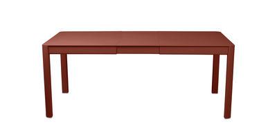Table à rallonge Ribambelle Small / L 149 à 191 cm - 6 à 8 personnes - Fermob ocre rouge en métal