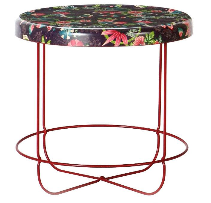 Mobilier - Tables basses - Table basse T-Ukiyo ronde - Moroso - Violet - Acier verni, Polyester