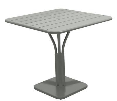 Table carrée Luxembourg / 80 x 80 cm - Pied central - Aluminium - Fermob romarin en métal