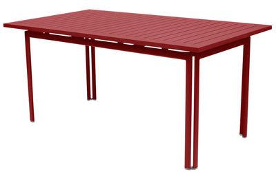 Table Costa / 160 x 80 cm - Fermob piment en métal