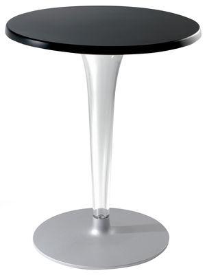 Table de jardin Top Top - Contract outdoor / Ø 70 cm - Kartell noir en matière plastique