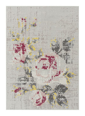 Interni - Tappeti - Tappeto Flowers / 170 x 240 cm - Gan - Naturale - Feltro, Lana