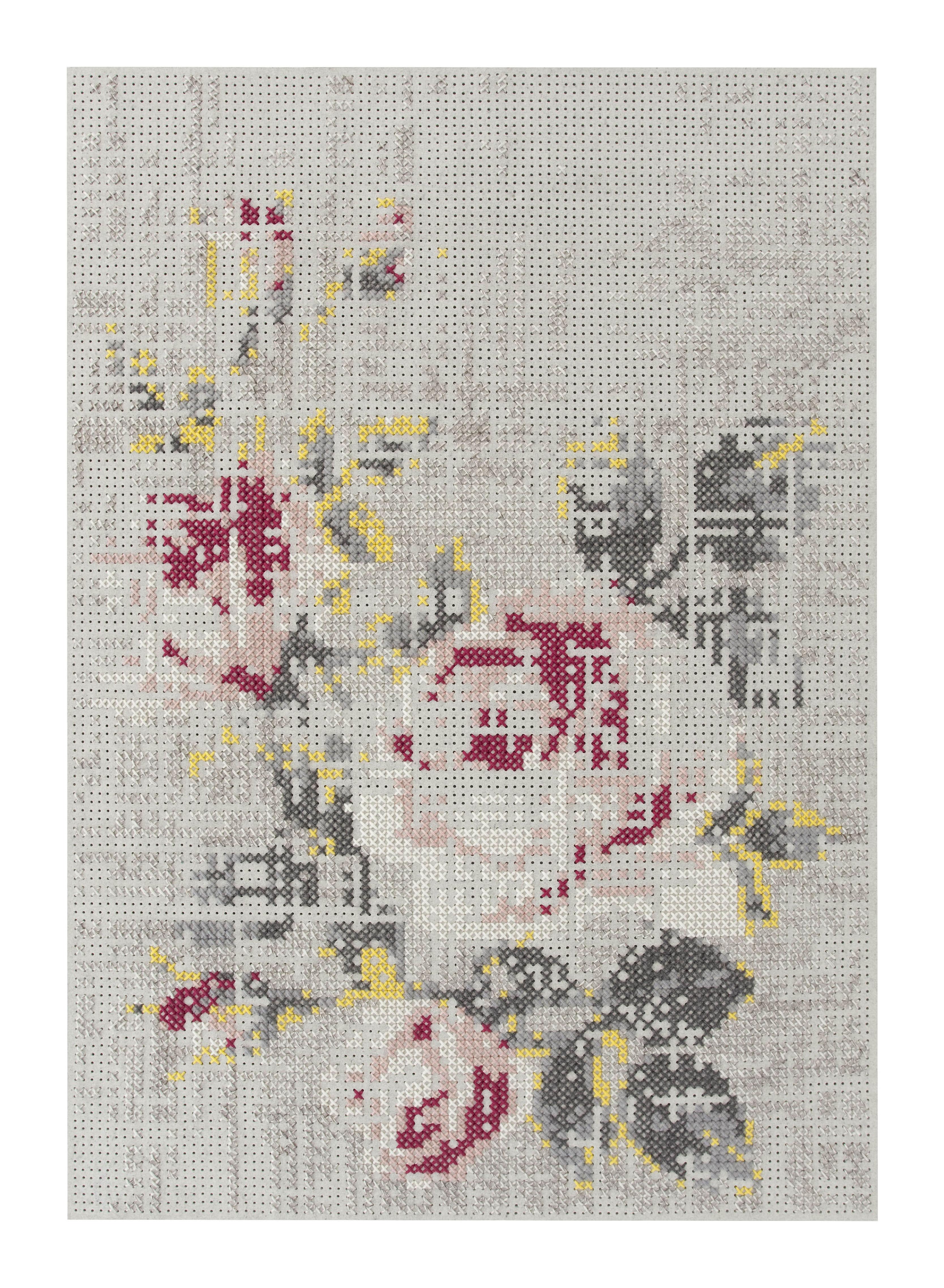 Dekoration - Teppiche - Flowers Teppich / 170 x 240 cm - Gan - Natur - Filz, Wolle
