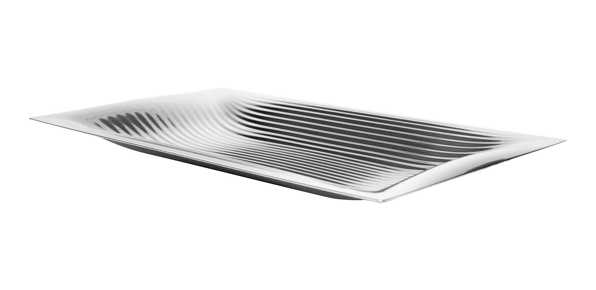 Tableware - Trays - Megaptera Tray - 45 x 26 cm by Alessi - Stainless steel - Stainless steel