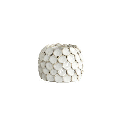 Decoration - Vases - Dot Vase - / Ceramic - Ø 15 x H 10 cm by House Doctor - White - Glazed ceramic