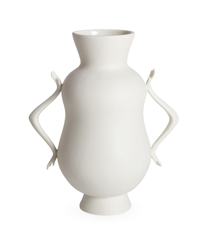 Déco - Vases - Vase Eve Double Bulb / Anses en forme de mains - Jonathan Adler - Blanc - Porcelaine