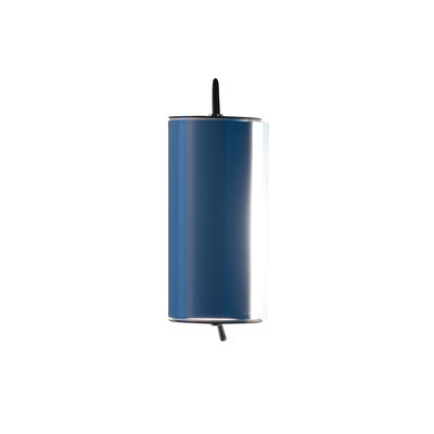 Lighting - Wall Lights - Cylindrique Wall light - / Small - L 16 cm - Charlotte Perriand by Nemo - L 16 cm / Light blue - Painted aluminium