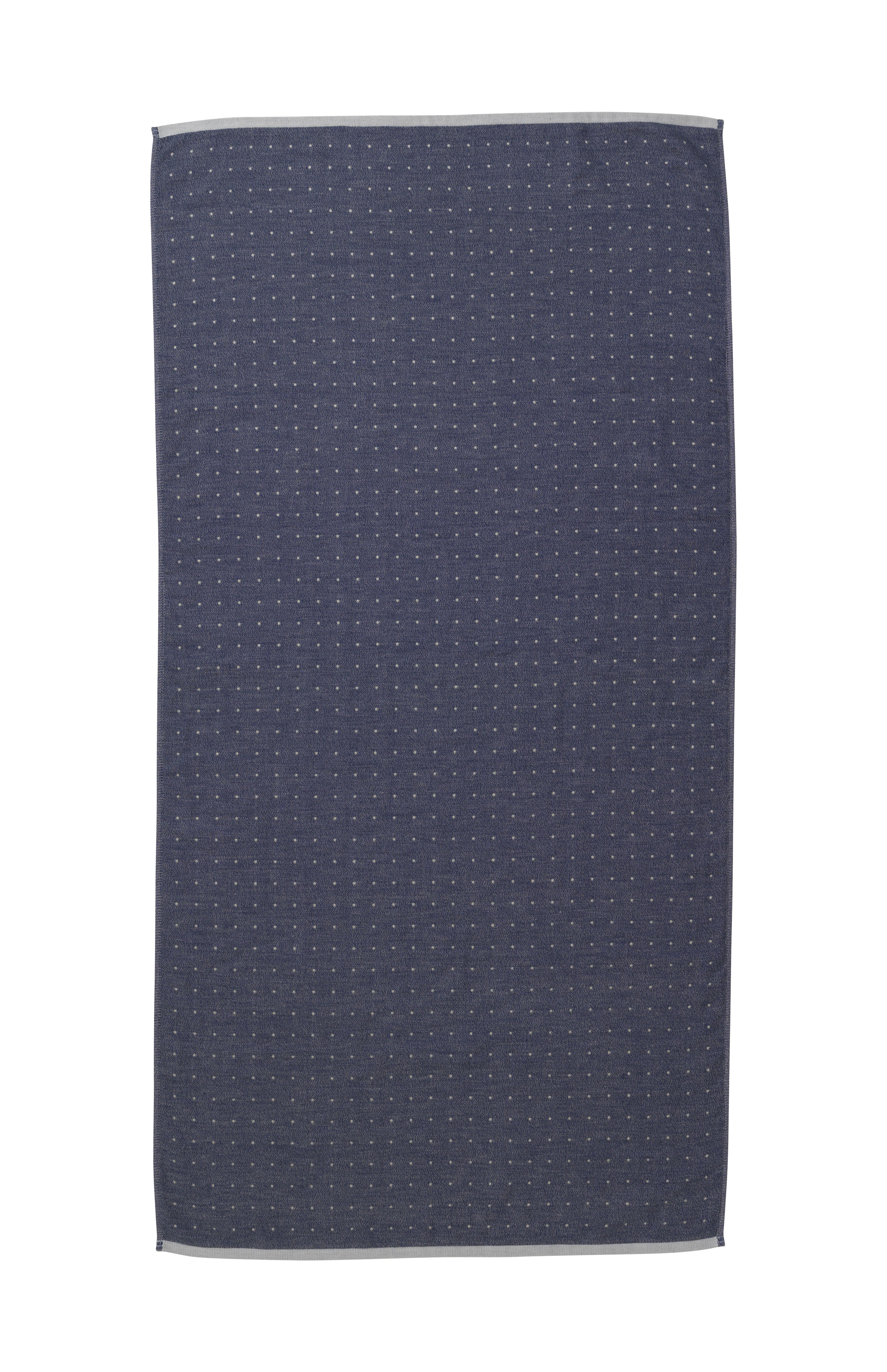 Decoration - Bedding & Bath Towels - Sento Bath towel - / Organic - 140 x 70 cm by Ferm Living - Bleu - Cotton