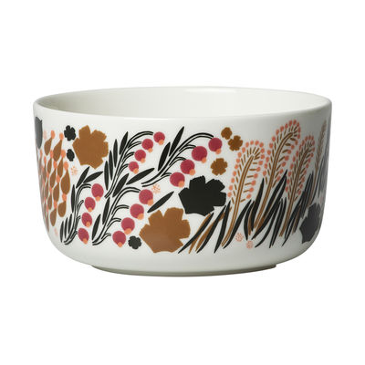 Tableware - Bowls - Letto Bowl - /Ø 12.5 x H 6.5 cm - 50 cl by Marimekko - Letto / White, green & black - Sandstone