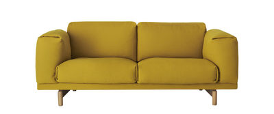 Canapé 2 places Rest / L 200 cm - 2 places - Muuto jaune en tissu