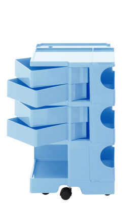 Desserte Boby H 73 cm 4 tiroirs B LINE bleu ciel en matière plastique