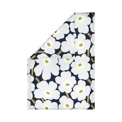 Decoration - Bedding & Bath Towels - Unikko Duvet cover for 1 person - / 150 x 210 cm by Marimekko - Unikko / Navy blue,light grey - Cotton