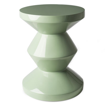 Furniture - Stools - Zig Zag End table - / Lacquered plastic by Pols Potten - Olive green - Lacquered polyester