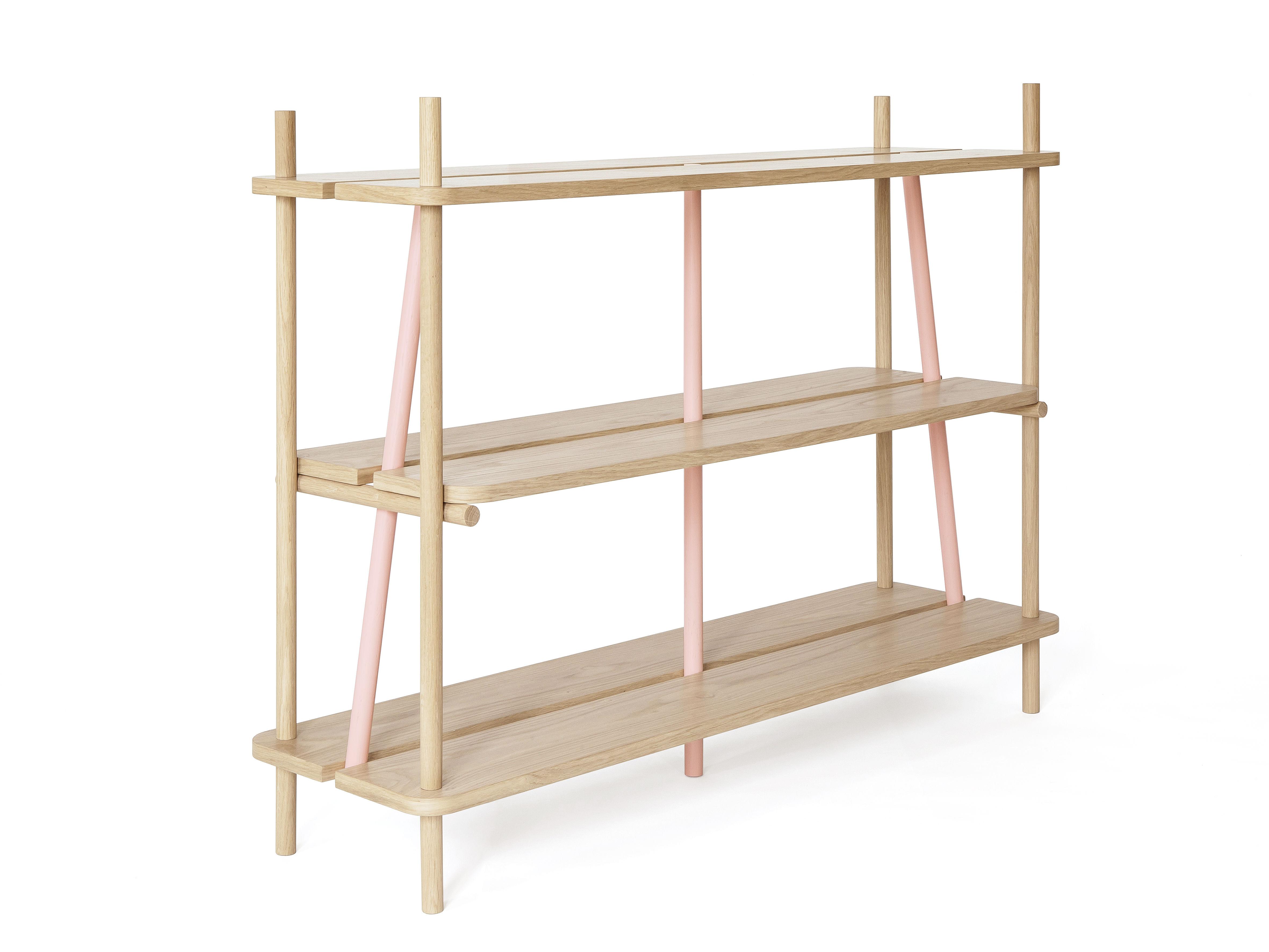 etag re simone l 120 x h 92 cm ch ne montants roses hart made in design. Black Bedroom Furniture Sets. Home Design Ideas