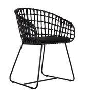 Chaise Tokyo Rotin métal Pols Potten noir en fibre végétale