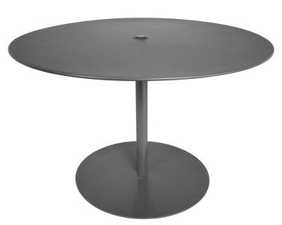 Table ronde FormiTable XL / Métal - Ø 120 cm - Fatboy gris anthracite en métal