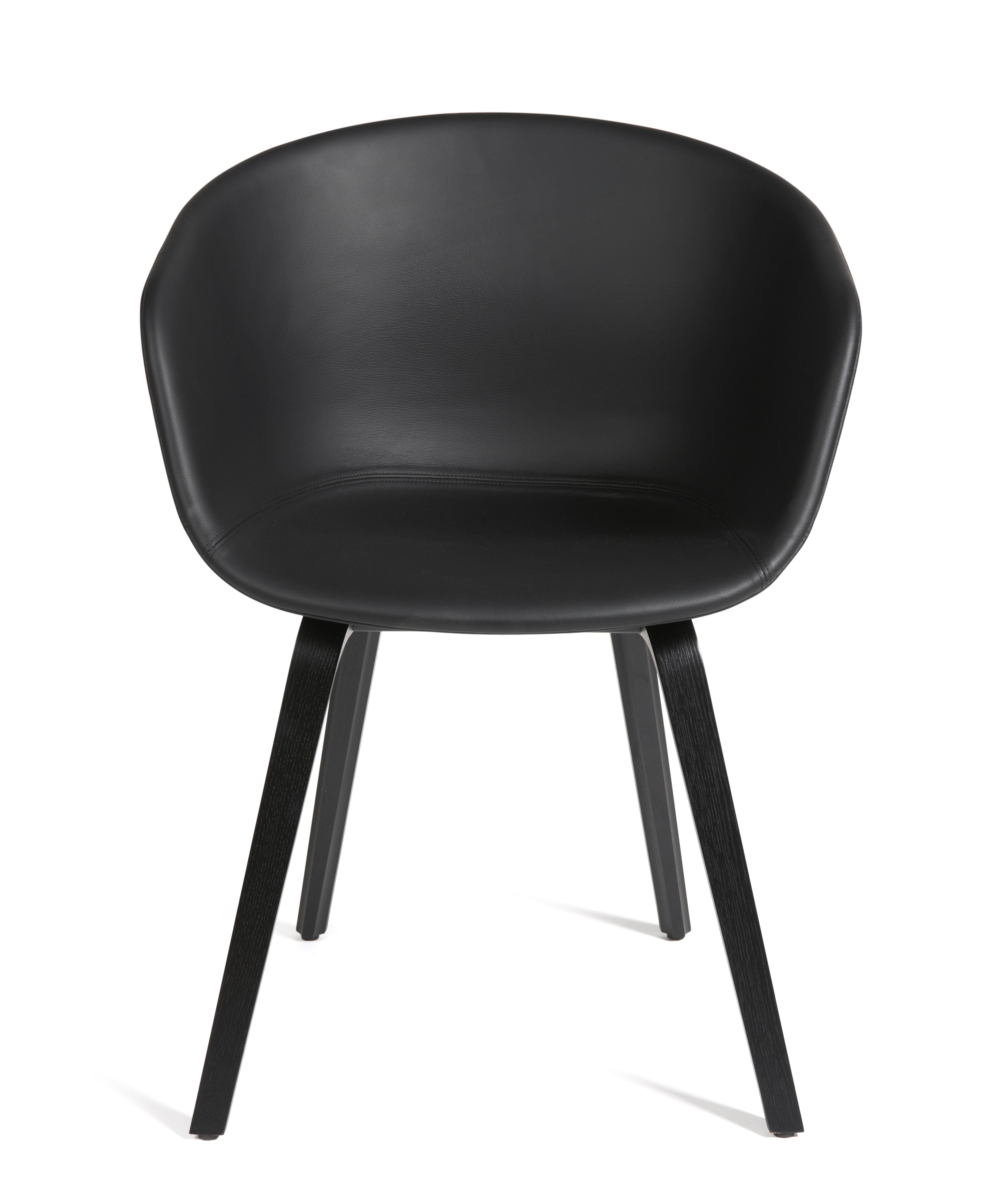 About A Chair Gepolsterter Sessel Leder 4 Beinig Leder Schwarz
