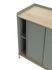 Enfold High dresser - / Acier & chêne naturel by Muuto