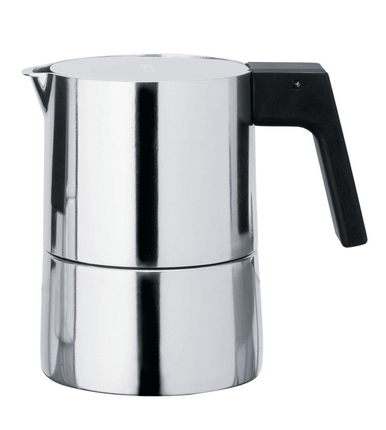 Tischkultur - Tee und Kaffee - Pina italienischer Kaffeebereiter 3 Tassen - Alessi - 3 Tassen - Bakelit, Gussaluminium