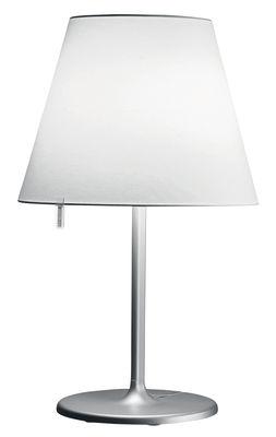 Illuminazione - Lampade da tavolo - Lampada da tavolo Melampo Tavolo di Artemide - Grigio alluminio - Alluminio, Tessuto