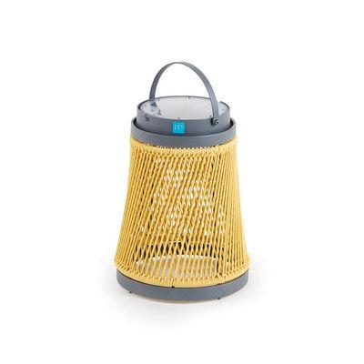 Image of Lampada solare Solare - / corda sintetica - H 40 cm / Ricarica solare o USB di Unopiu - Giallo - Tessuto
