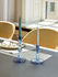 Twist Long candle - / Set of 6 - H 19 cm by Hay