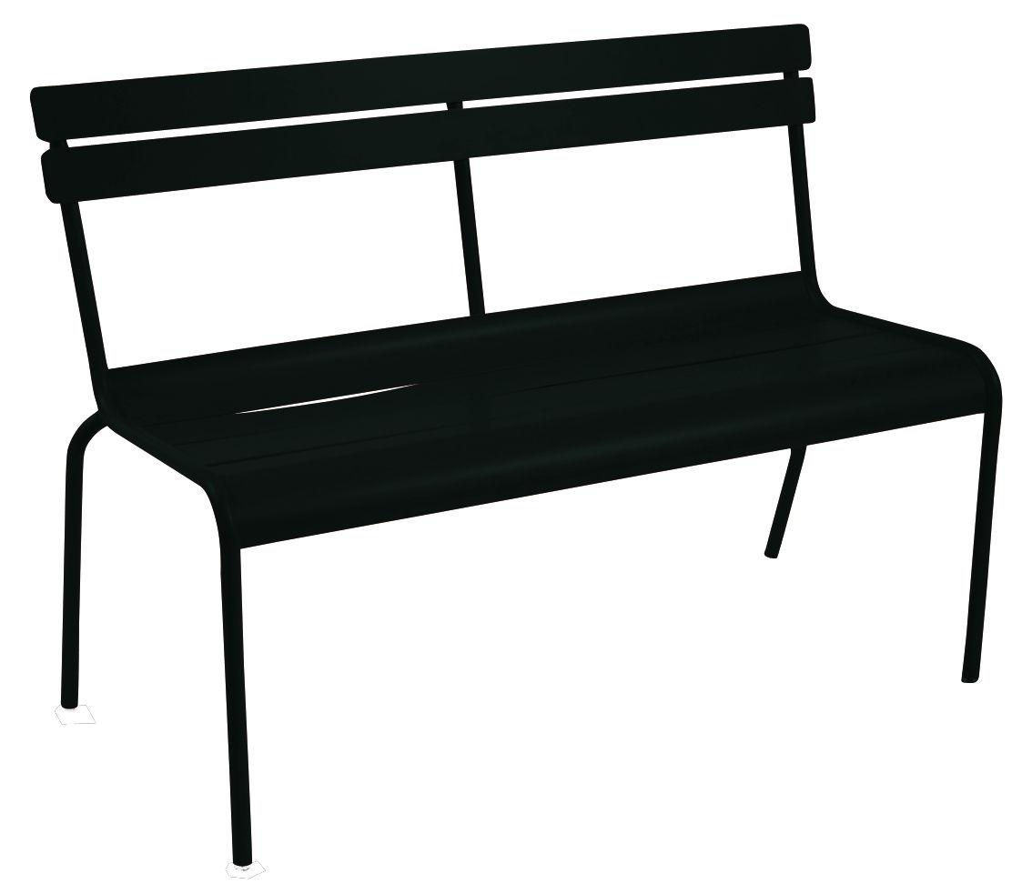 Life Style - Panca con schienale Luxembourg - 2/3 posti di Fermob - Liquerizia - Alluminio laccato