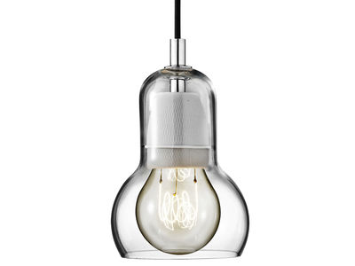 Lighting - Pendant Lighting - Bulb Pendant - Ø 11 cm - Black cable by &tradition - Transparent / black cord - Mouth blown glass