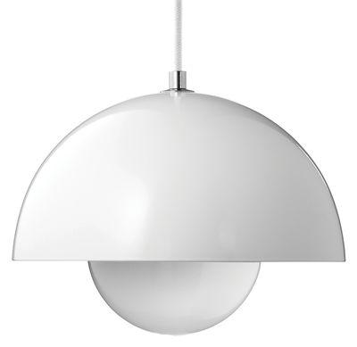 Lighting - Pendant Lighting - FlowerPot VP1 Pendant - Ø 23 cm by &tradition - White - Lacquered aluminium