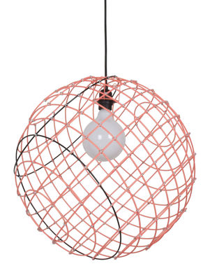 Leuchten - Pendelleuchten - Sphere XL Pendelleuchte / Metall - Ø 50 cm - Forestier - Neon-Orange & schwarz - thermolackierter Stahl