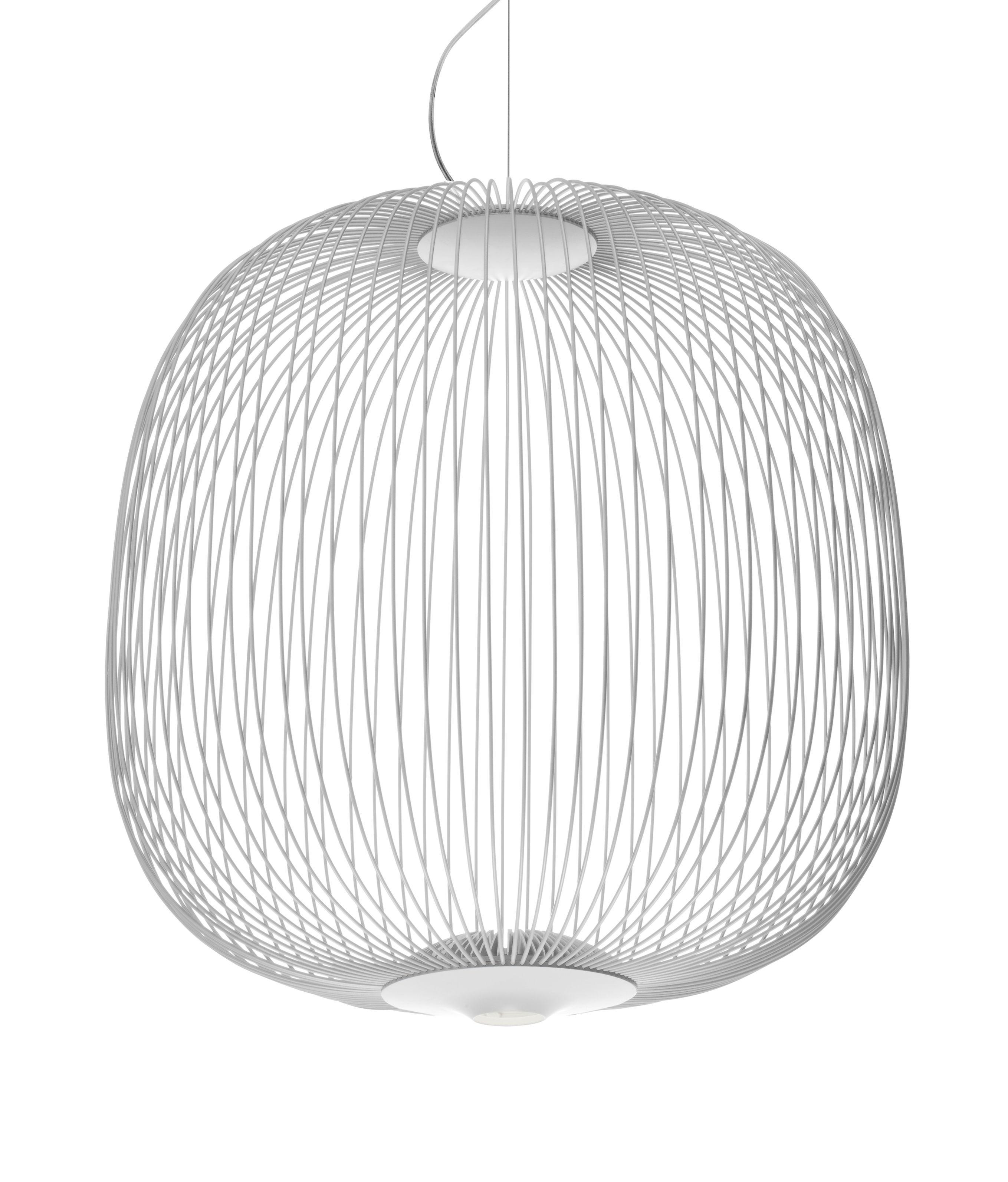 Leuchten - Pendelleuchten - Spokes 2 Small Pendelleuchte / LED - Ø 52 cm x H 52,5 cm - Foscarini - Weiß - Aluminium, lackierter Stahl