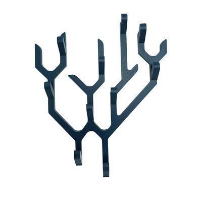 Mobilier - Portemanteaux, patères & portants - Portemanteau mural Ambroise / Edition limitée Noël 2020 - Hartô - Bleu canard - Chêne massif, Contreplaqué de chêne