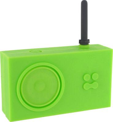 Decoration - Radios and alarm clocks - Tykho Radio by Lexon - Bamboo green - Rubber