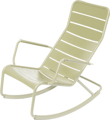 Life Style - Rocking chair Luxembourg di Fermob - Tiglio - Alluminio laccato