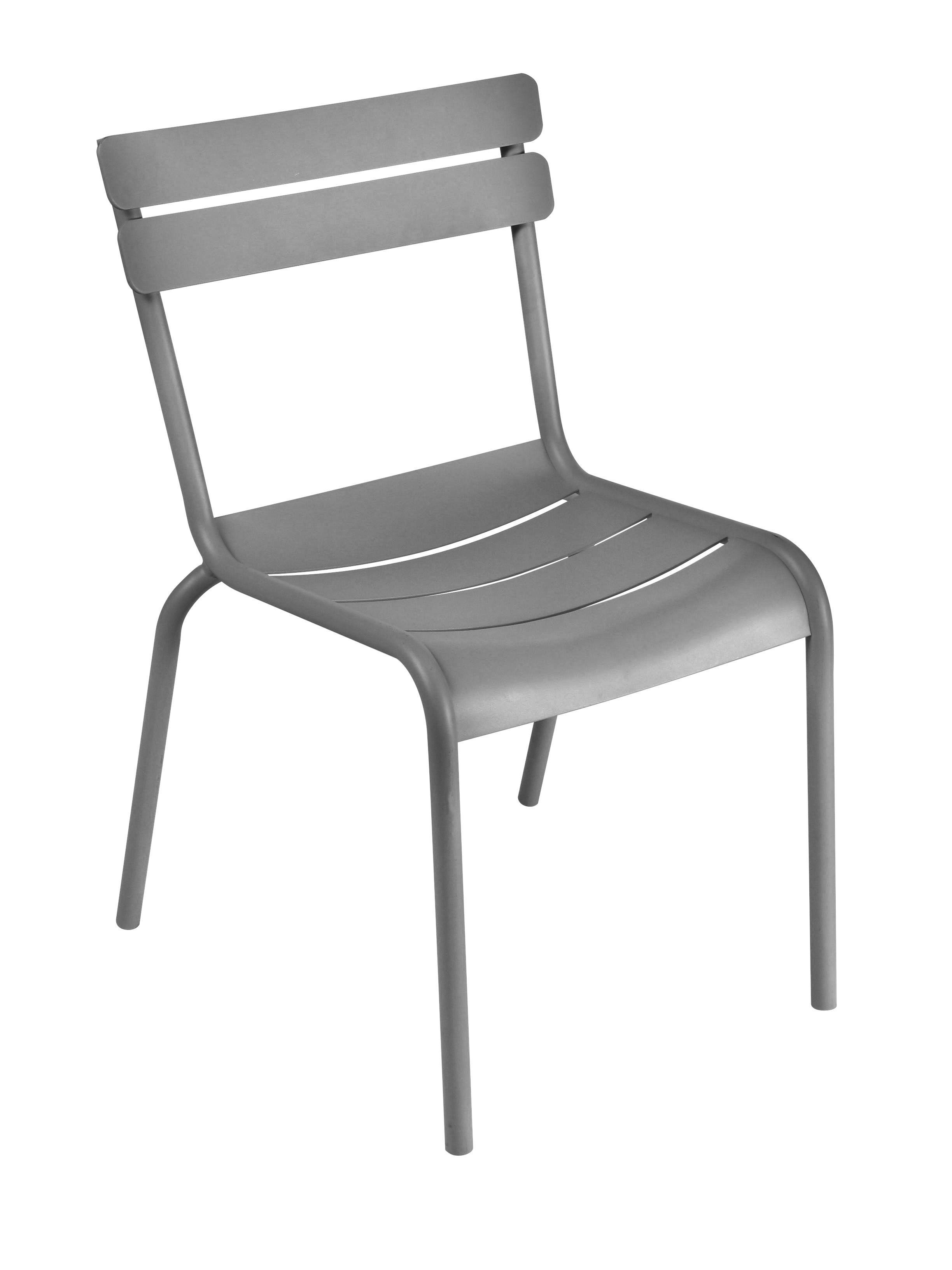 Life Style - Sedia impilabile Luxembourg di Fermob - Grigio metallo - Alluminio laccato
