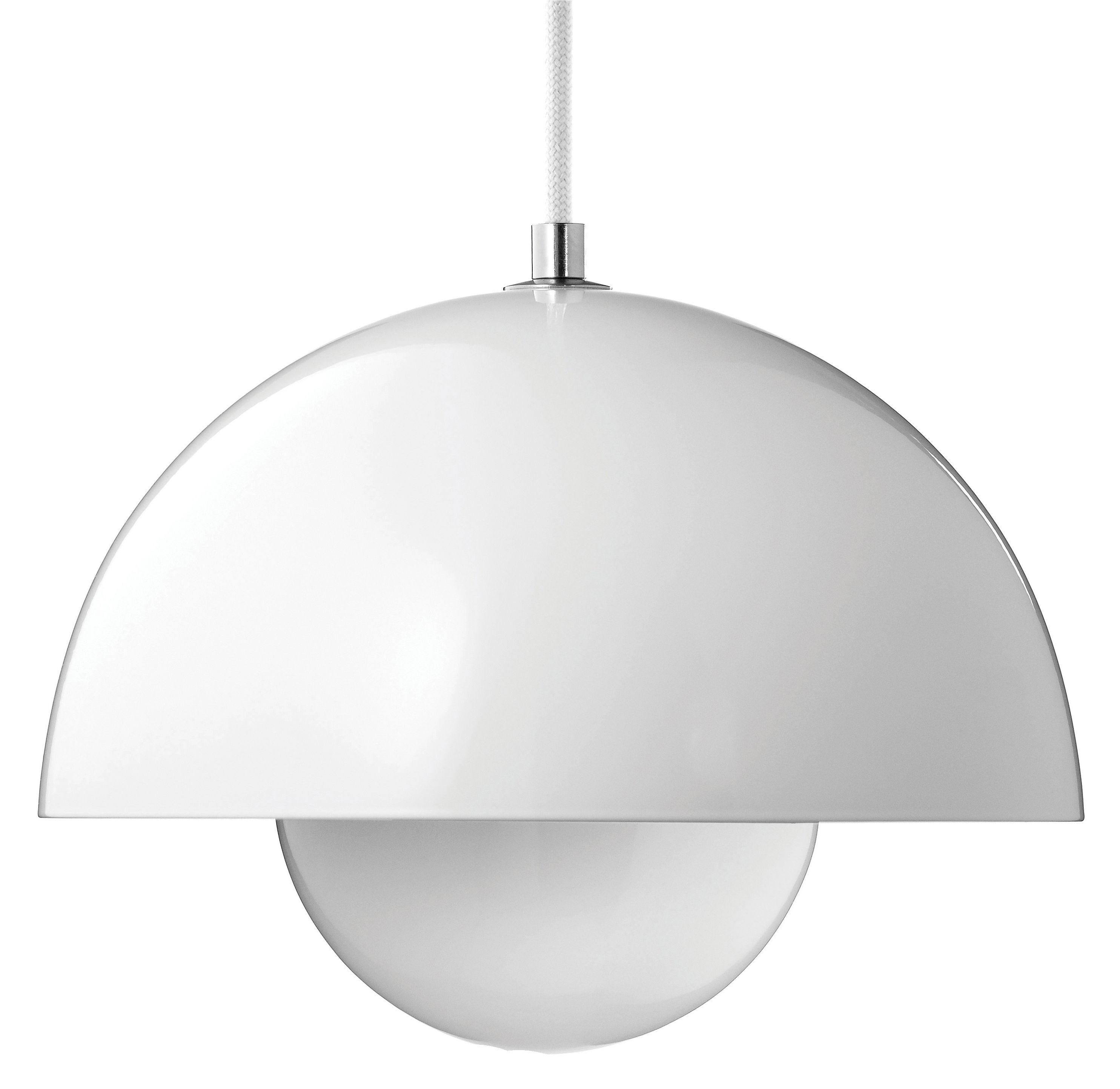 Illuminazione - Lampadari - Sospensione FlowerPot VP1 - Ø 23 cm di &tradition - Bianco - Alluminio laccato